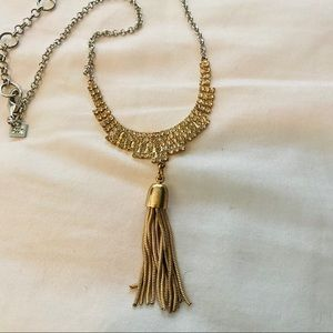 Mixed Metal Banana Republic Tassel Necklace
